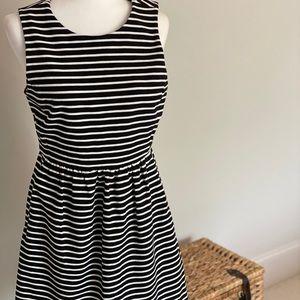 JCrew Navy Striped Mini Dress - size 8